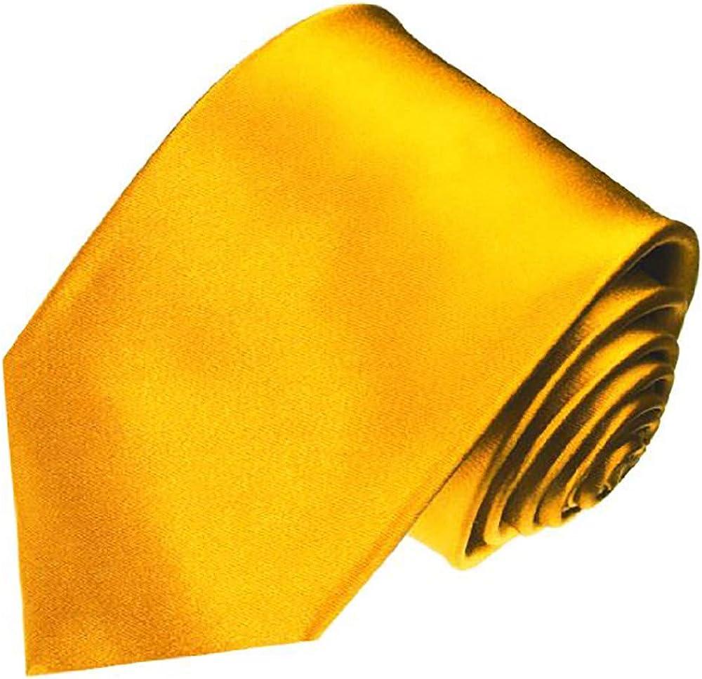 LORENZO CANA Luxury Italian 100/% Pure Silk Tie Jacquard Woven Handmade Gold Solid Necktie 84417