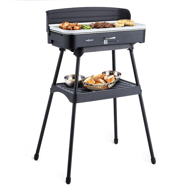 oneConcept Porterhouse Barbecue électrique sur pied grill de table ...