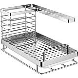 Oriware Organizador Sink Caddy Soporte para Utensilios de Cocina para el Fregadero Acero Inoxidable - 25 x 15 x 15 cm