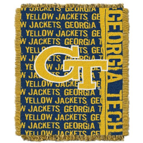 - The Northwest Company Officially Licensed NCAA Georgia Tech Yellow Jackets Double Play Jacquard Throw Blanket, 48
