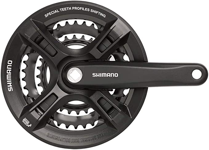 New Shimano Acera FC-M351 Square Crank 44//32//22 175mm Black 3x9-fach MTB