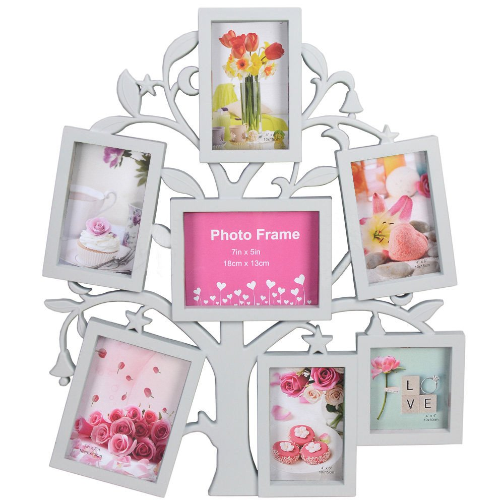 Reelva Stylish 7Photo Tree Shaped Photo Frame Multi Collage Picture ...