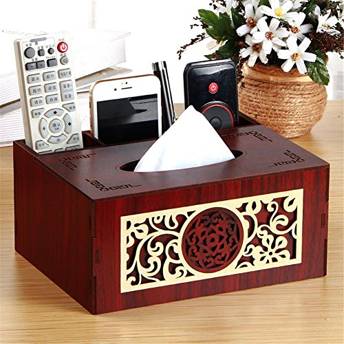 European Multi - Functional Paper Towel Box Carton Living Room Mobile Phone Remote Control Desktop Coffee Table Storage Box , D