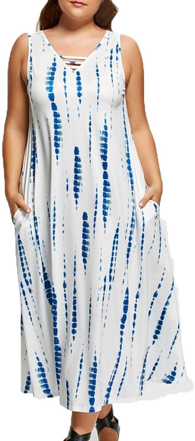 Kolylong® übergröße Kleider Damen Frauen Elegant Spitze Ärmelloses
