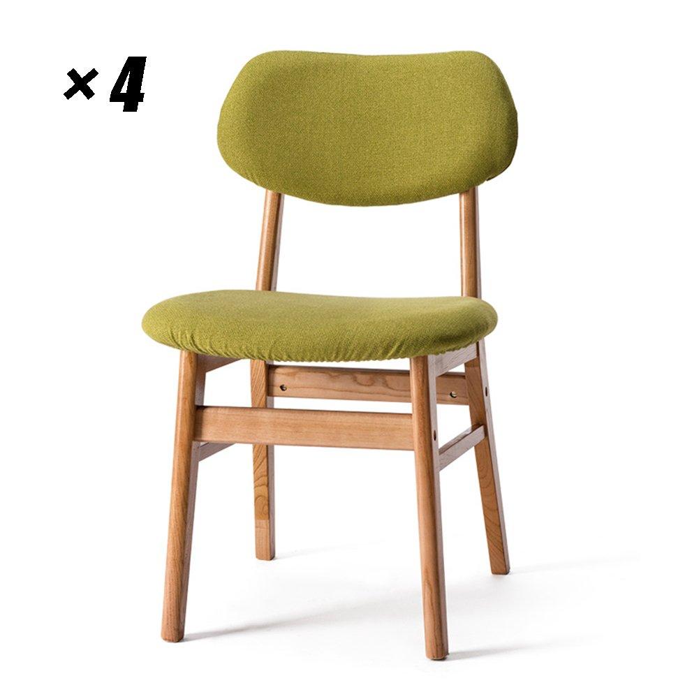 ソリッドウッドダイニングチェアモダンラウンジシーツシンプルなキッチン用椅子、レストラン、カフェ50×47×77.5cm (色 : 木の色, サイズ さいず : Set of 4) B07F6MHG2R Set of 4 木の色 木の色 Set of 4