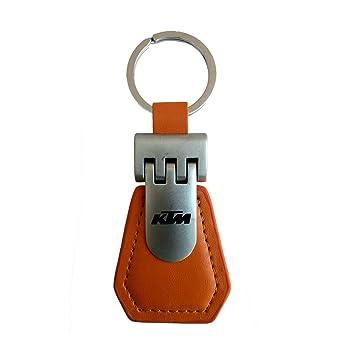 GCT KTM Duke Bike Logo Premium Leather Metal Keychain for Car Bike Men Women  Keyring (Orange Silver)  Amazon.in  Bags 4ba111a8d