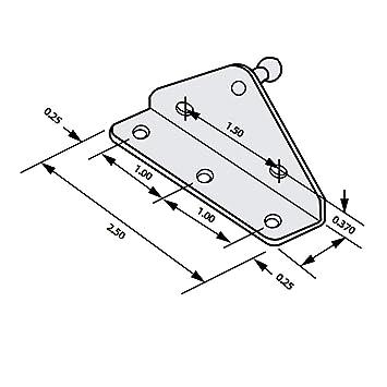 Amazon Com Perfectscore 10mm Ball Stud Angled Lift Support Bracket