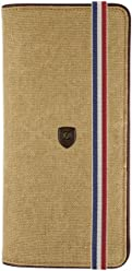 S.T. Dupont Iconic Wallet, Leather, Beige, 13 Cards, Coin case, 190303