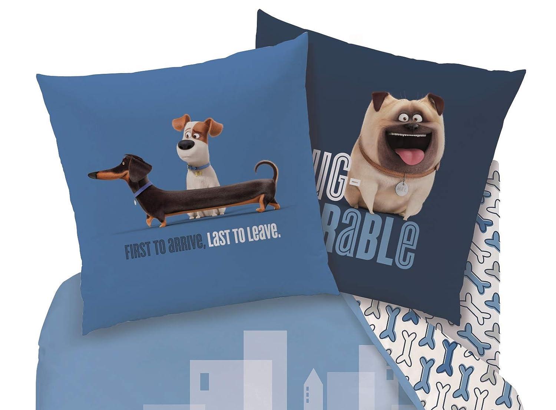 80/x 80/cm Cachorro Perros 135/x 200/cm Familando Sch/öne Reversible Juego de Cama casa Animales MAX Perro Cama Infantil lin/ón