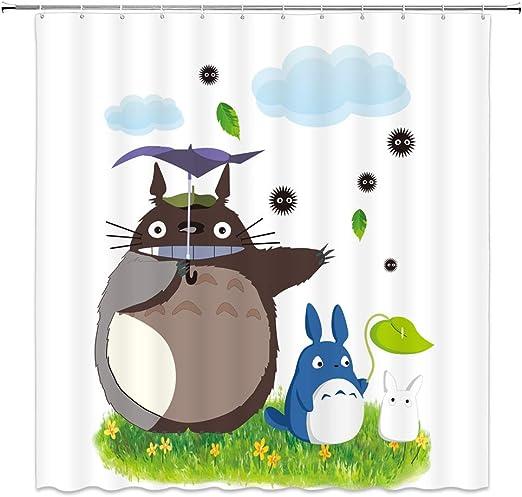 Cartoon Planet Cloud Star Shower Curtain Hooks Waterproof Polyester Bathroom Mat