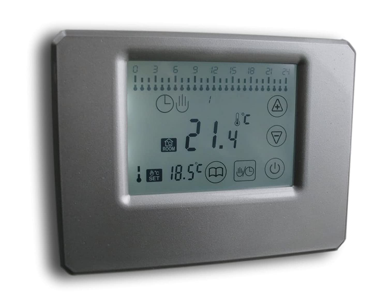 SM-PC®, Thermostat Touchscreen silber, Aufputz, potentialfreier ...