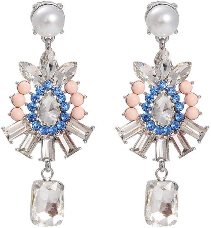 lbince Pendientes Réplicas de Moda Pendientes Colgantes de Cristal de Roca Cubana Temperamento Pendientes de Mujer Famosa