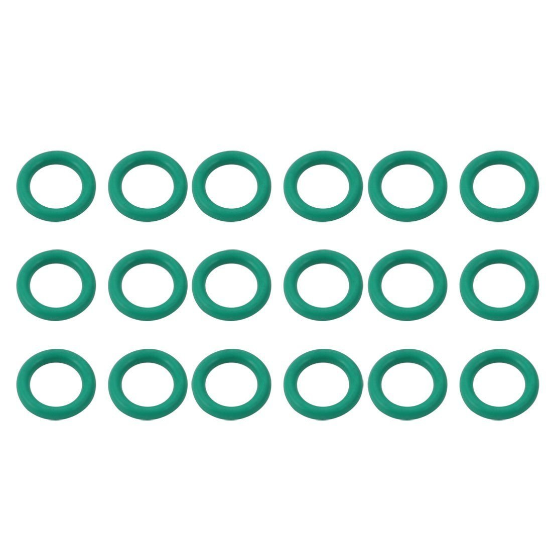 Portal Cool 18pcs Green 5mm Outer Dia 1mm Thickness Sealing Ring O-Shape Rubber Grommet