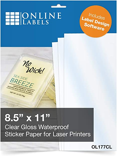 Amazon.com: Printable Clear Gloss Sticker Paper - Hoja ...