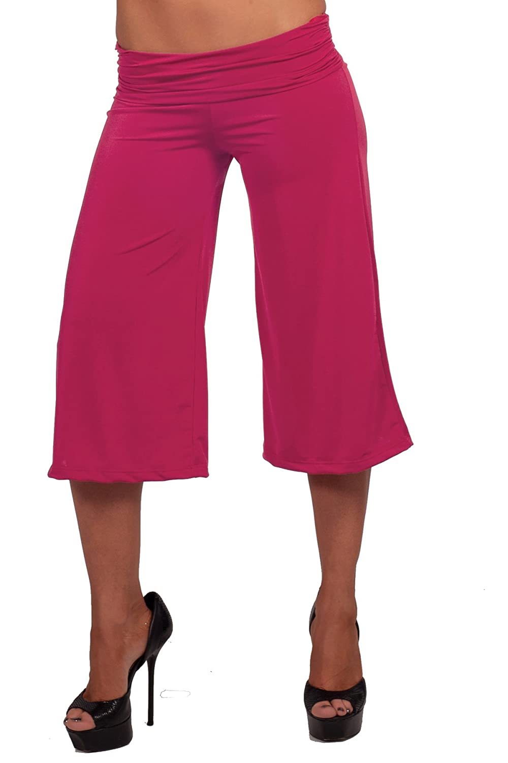 317094a9f8e 50%OFF Women s Seamless Loose Fancy Flare Cropped Knee Length Gaucho Pants