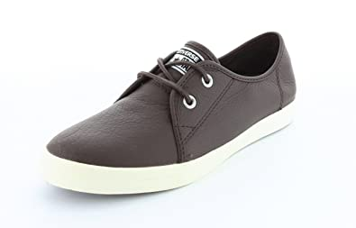 816436517e62 Converse All Star AS RIFF OX Burnt Umber Brown Leather UK 7  Buy Online at  Low Prices in India - Amazon.in