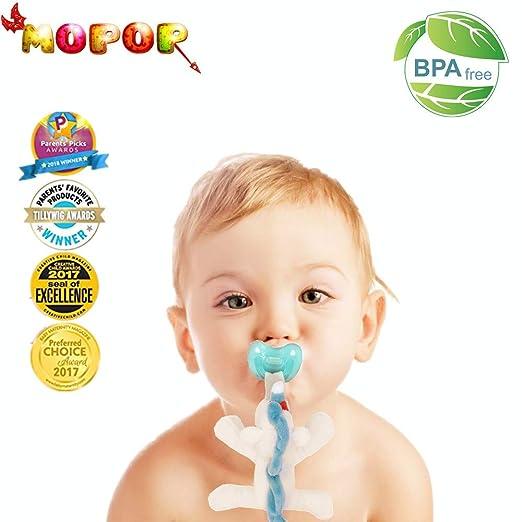 Amazon.com: Soporte para chupete de bebé, juguete de peluche ...