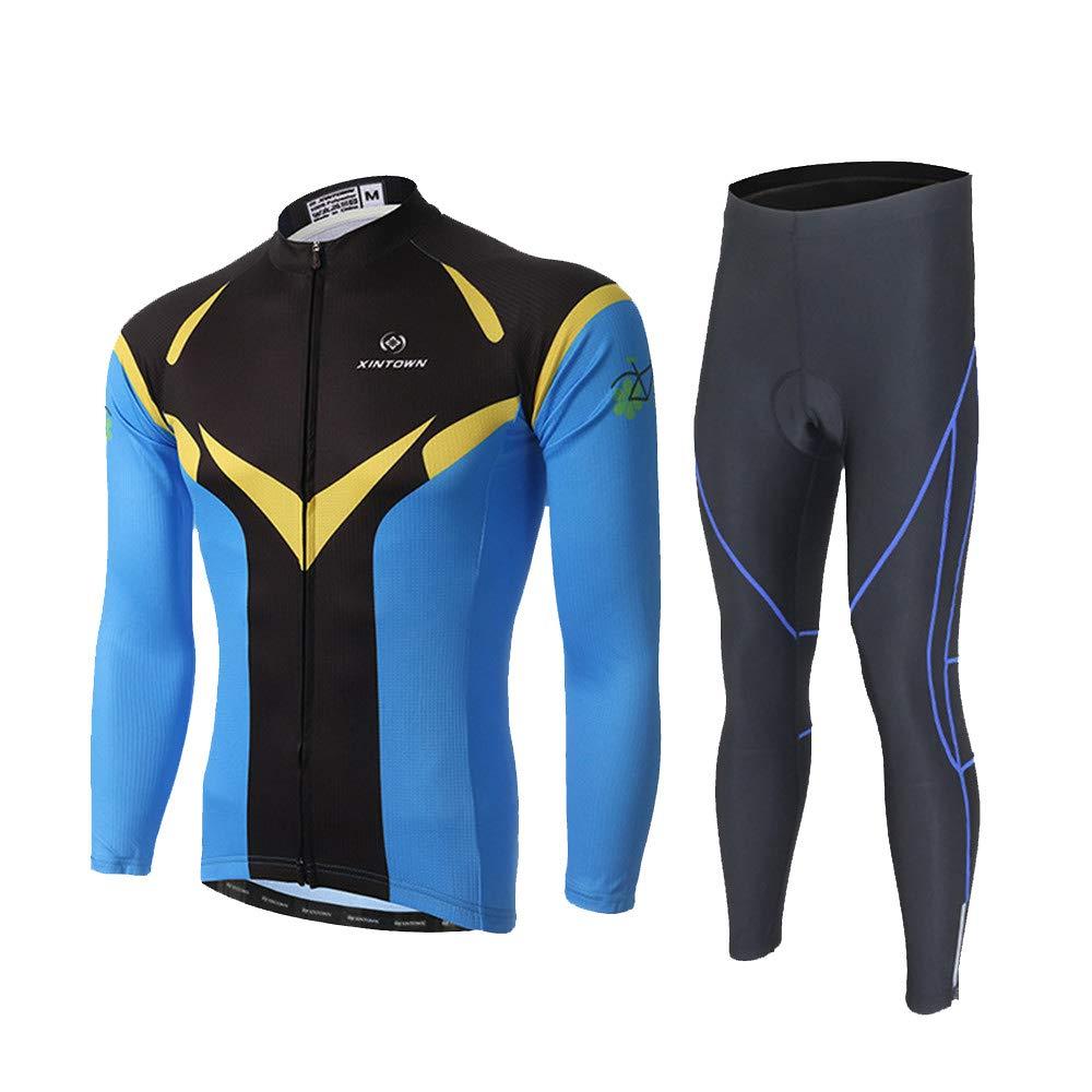 Radsportanzug Herren Jersey Anzug Langarm Sweatshirt Casual Outdoor Sportswear Laufbekleidung Atmungsaktiv und schnell trocknend Fahrradhose Bequeme atmungsaktive Fahrradbekleidung ( Size : XL )