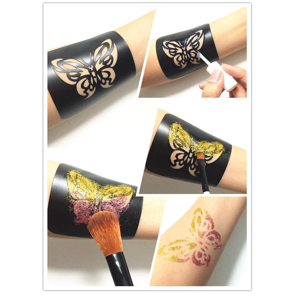 VEAMOR Henna Tattoo Stencil Kit,Glitter Tattoo Kit,Temporary Tattoos ...