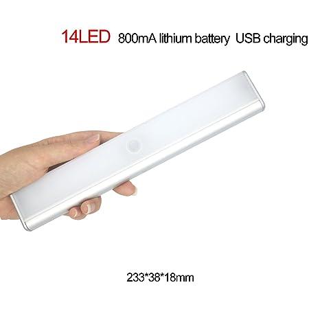 Hot Sensor de movimiento luz recargable por USB Stick en cualquier lugar magnético luz LED inalámbrico