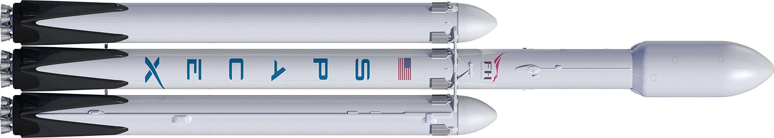 Dr Zooch Flying Model Rocket Kit 48 SpaceX Falcon Heavy