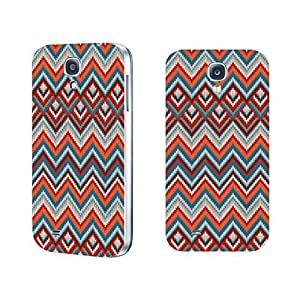 Vintage Series Designed High Impact Cell Phone Case Skin Cover for Samsung Galaxy S4 (colorful chevron BY802)