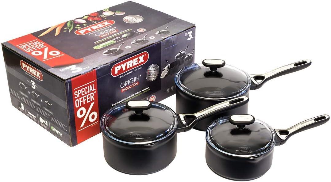Pyrex Origin Plus 3 Piece Pan Set