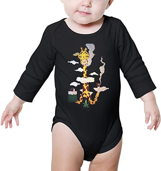 Newborn Baby Girls Bodysuit Short-Sleeve Onesie THC Science Print Jumpsuit Summer Pajamas