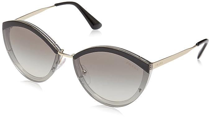 Prada 0PR 07US Gafas de sol, Pale Gold/Black/Grey, 64 para ...