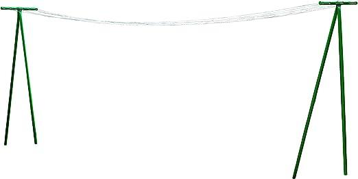 Metaltex 40769410080 Tendedero de jardín en Forma de T y Cuerda para Tender la Ropa, Estructura de Metal, 7,5 x 11,7 x 209 cm: Amazon.es: Hogar