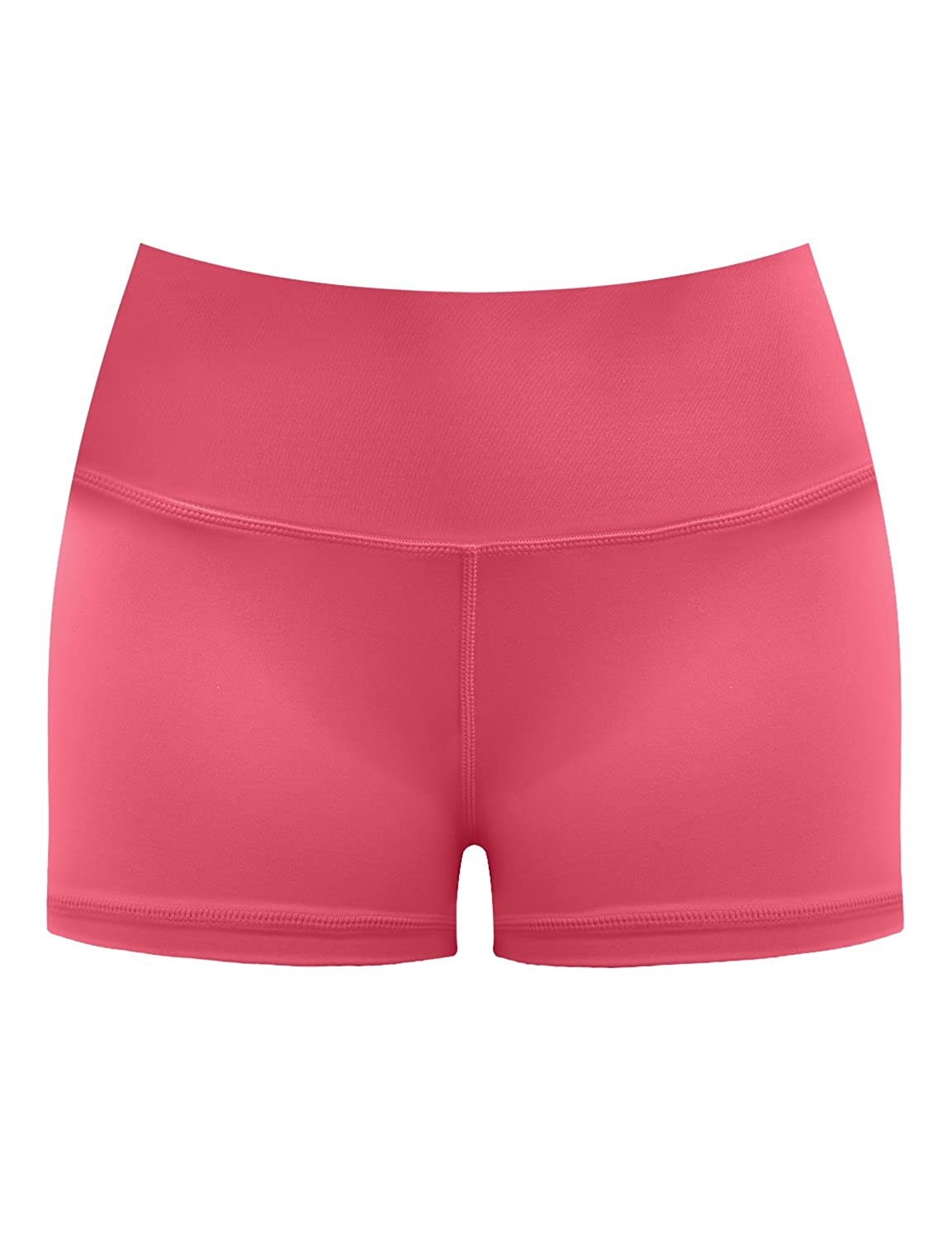 Bwhb003 pinkcoral& xFF08;2.5 inseam) BUBBLELIME 2.5   4  Inseam Out Pocket Yoga Shorts Running Shorts Active