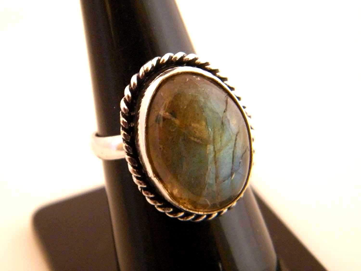 Size- 7 USA Thebestjewellery Labradorite Ring Handmade Ring Adjustable Ring Silver Plated Ring Women Jewelry BRS-3748