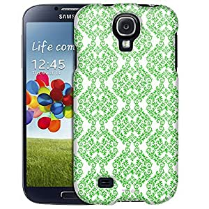 Samsung Galaxy S4 Case, Slim Fit Snap On Cover by Trek Victorian Stunning Green on White Case