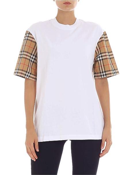 Burberry Bianco T Shirt MAmazon Donna itAbbigliamento XZPuiOkT