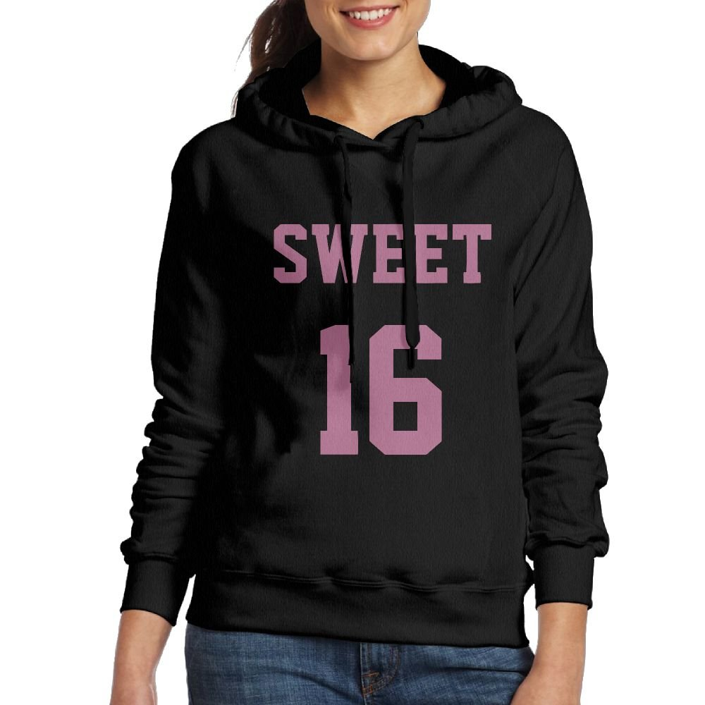 PINK SWEET 16 YEARS BIRTHDAY Womens Hoodie Sweatshirt For Fall/Winter For Women