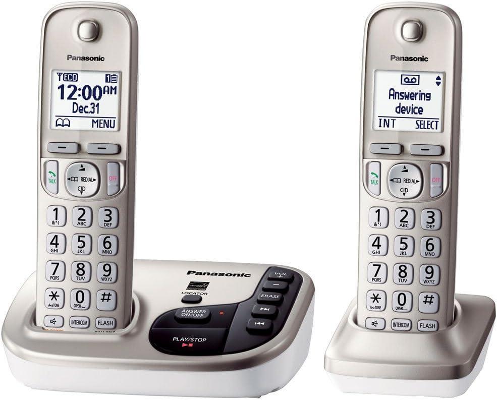 Panasonic KX-TGD222 N ampliable teléfono inalámbrico con llamada de Talking ID- 2 terminales (Certificado Reformado): Amazon.es: Electrónica