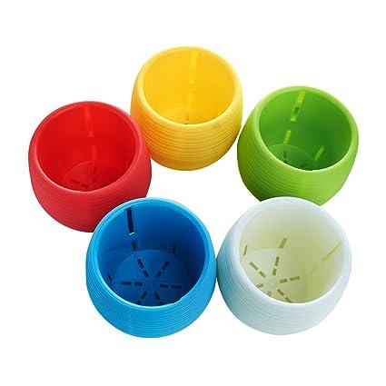 225 & Vejaoo 5-Pack Simple Plastic Mini Round Plant Flower Pots3 inch Decorative Office \u0026 Home 5 Colors(5 Pack Different Colors)