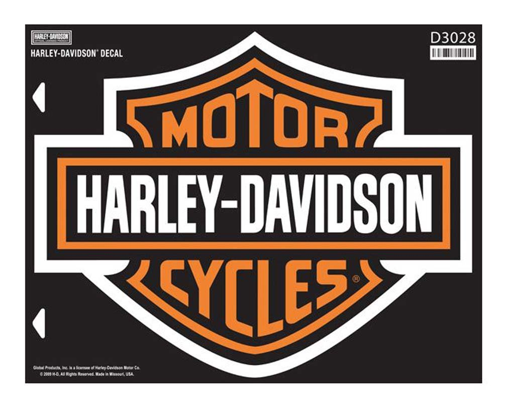 Amazon com harley davidson bar shield x large decal x large size sticker d3028 harley davidson automotive