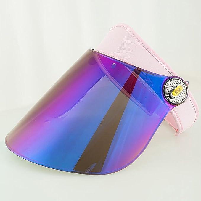 YXINY Viseras Sol Sombrero Visera Protección UV Ajustable Tintado  Transparente Cubrir Flexible Venda Uno tamaño Excursionismo Golf Tenis Al  Aire Libre ... 38deea1563a