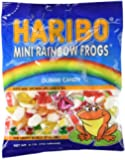 Haribo Gummies - Mini Rainbow Frogs - 5 oz