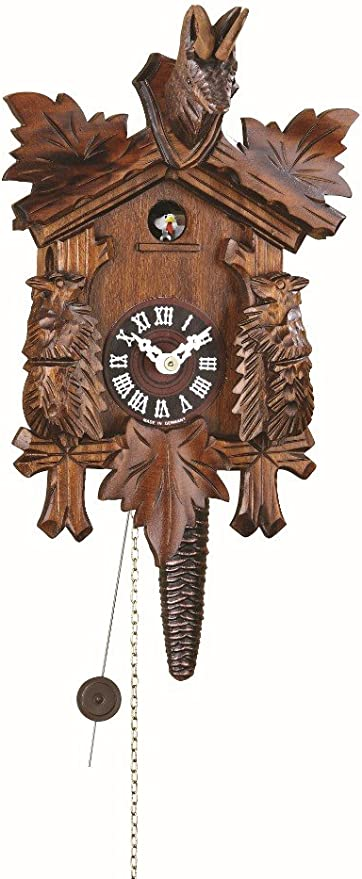 Trenkle Kuckulino Black Forest Clock Black Forest House with quartz movement and cuckoo chime TU 2034 PQ
