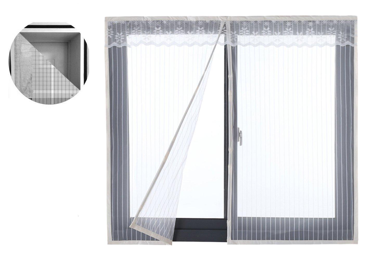 Liveinu Moustiquaire de Porte Ou Fenetre Magnetique Rideau Moustiquaire De Porte Avec Aimants Gris 110x150cm ISA-MRTM-MS-80651-1-3-(110x150cm)