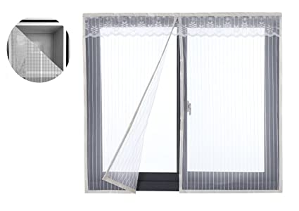 Liveinu Reinforced Magnetic Window Screen Mesh Anti Fly Mosquito ...