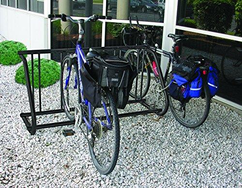 Powder Coated Metal Stand - Powder-Coated Steel Traditional Bike Rack - Single-Sided - Fits 5 Bikes - Black
