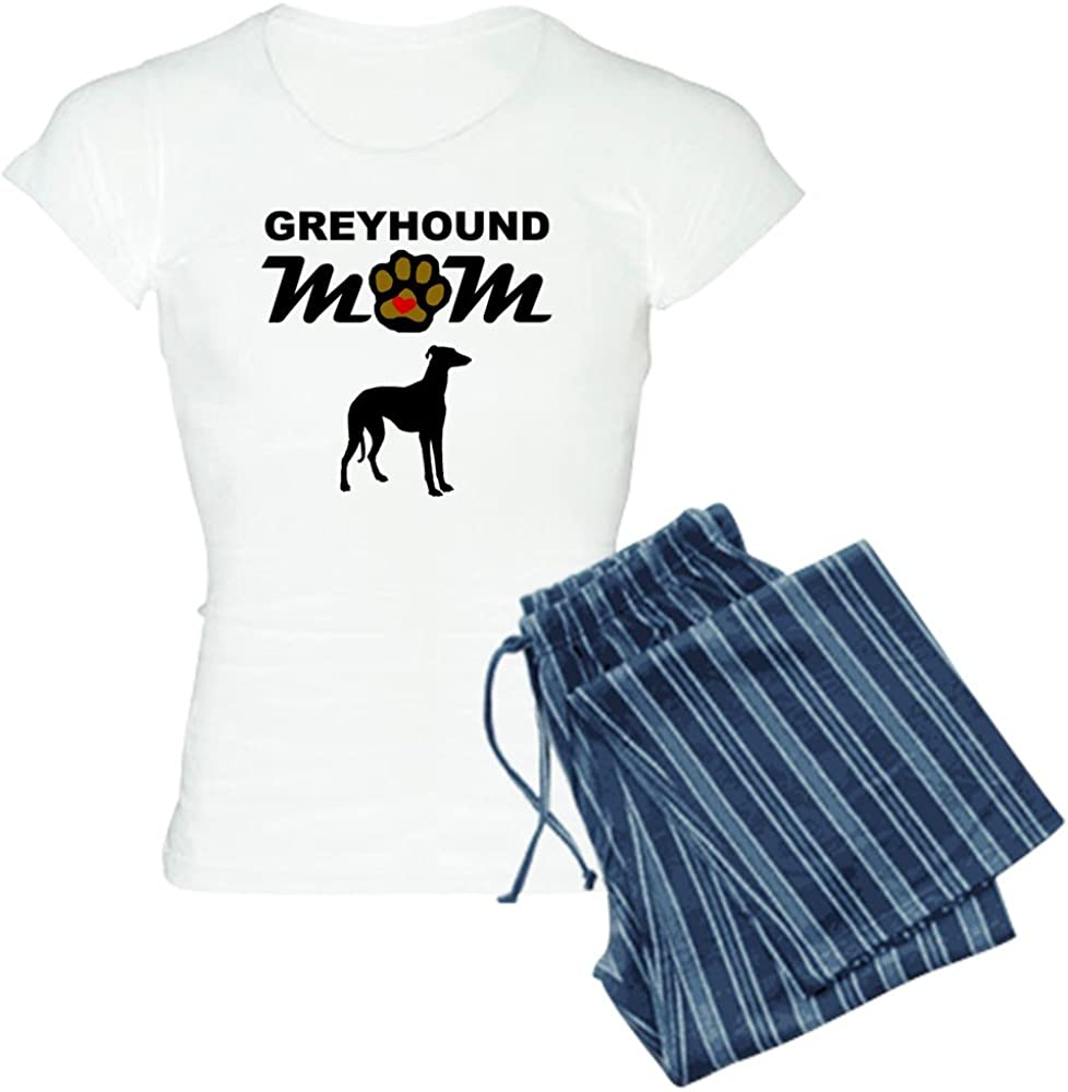 CafePress Greyhound Mom Pajamas Womens PJs