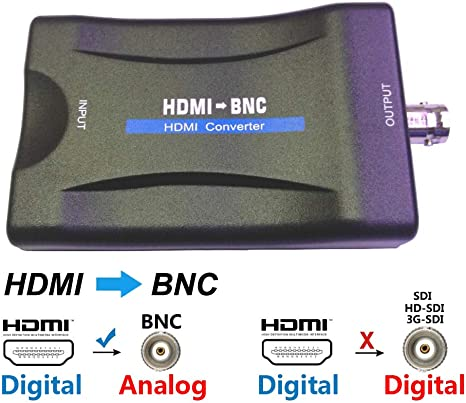 Adaptador de vídeo convertidor HDMI a BNC, HDMI en hembra analógico CVBS fuera componente para Full