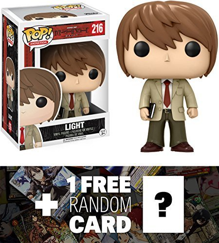 Funko Light Yagami POP! Animation x Death Note Vinyl Figure + 1 Free Anime Themed Trading Card Bundle (06364)