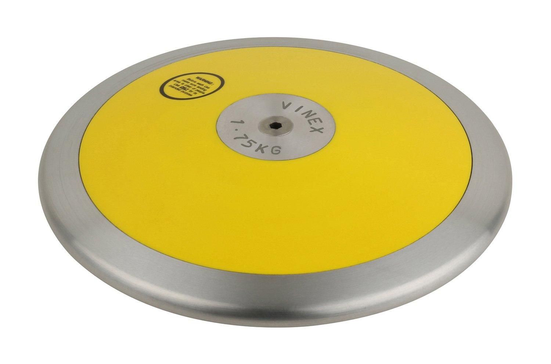 Discus low SPIN 2,0 kg Vinex Wettkampf-Diskus aus Kunststoff//Metall