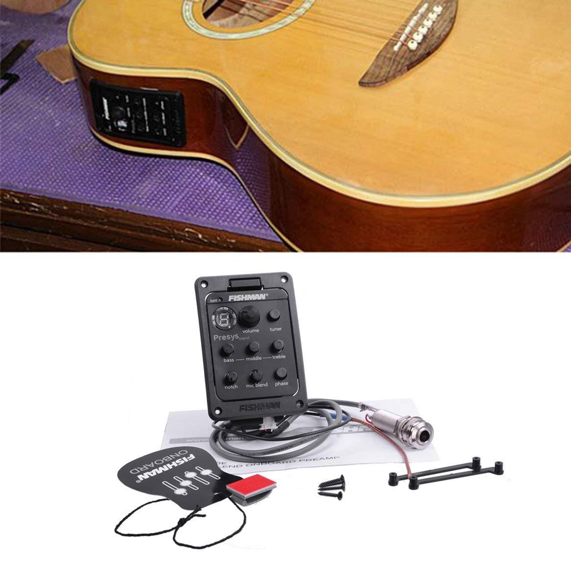 Fishman 4-Band EQ Ecualizador Guitarra Preamp Piezo Guitarra Acústica Guitarra sintonizador de Guitarra Con Mic Beat Board CE Certificación