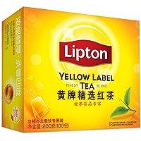 立顿(Lipton) 茶叶 红茶 黄牌精选红茶100包 200g